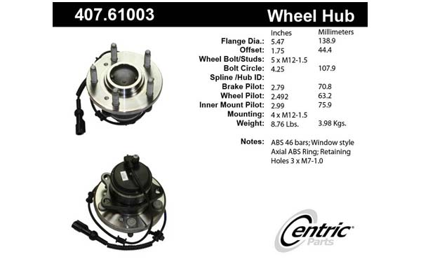 centric-CE 40761003 Fro