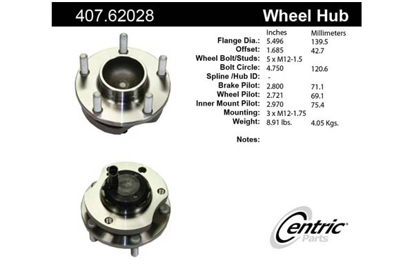 centric-CE 40762028 Fro