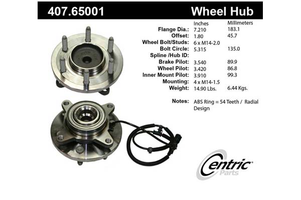 centric-CE 40765001 Fro
