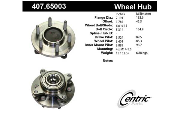 centric-CE 40765003 Fro