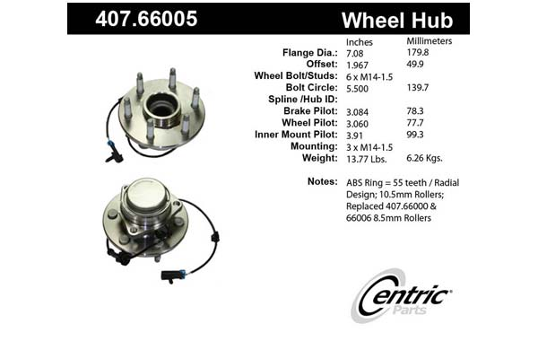 centric-CE 40766005 Fro