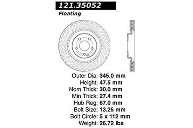 centric 121.35052 dia