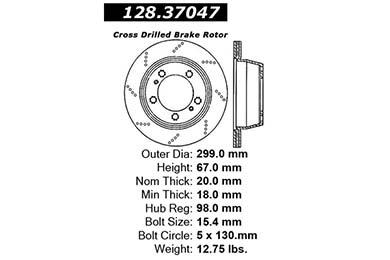 centric 128.37047 dia