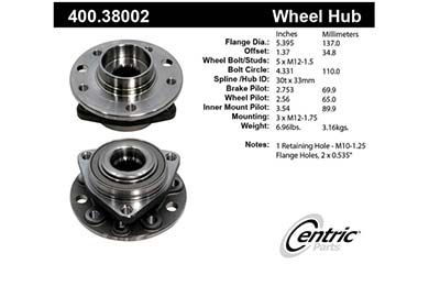 centric-CE 40038002E Fro