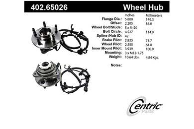 centric-CE 40265026E Fro