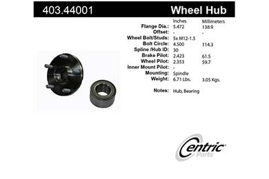 centric-CE 40344001 Fro