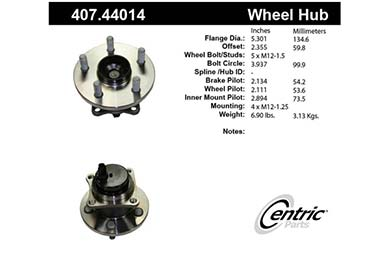 centric-CE 40744014E Fro