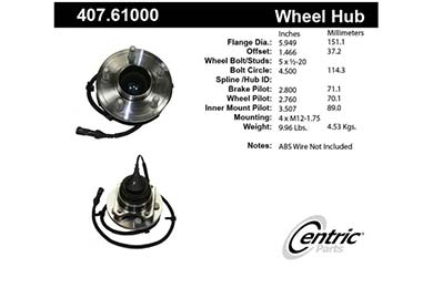centric-CE 40761000 Fro