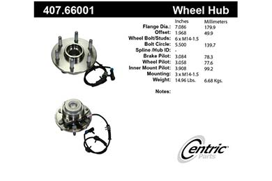 centric-CE 40766001 Fro