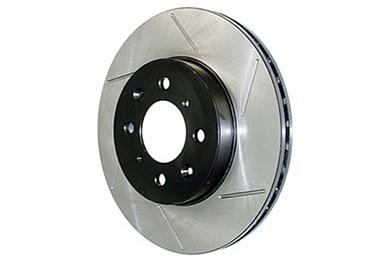 centric premium high carbon oe design slotted brake rotors left