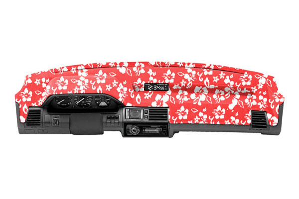coverking velour dash cover hawaiian red