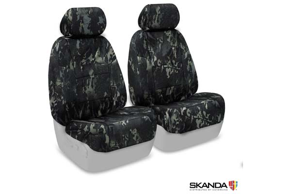 2006 Chevy Monte Carlo SKANDA Multi-Cam Camo Ballistic Seat Covers by Coverking in Black, Front Row Seat Covers