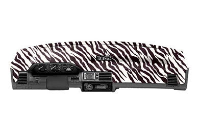 coverking velour dash cover zebra