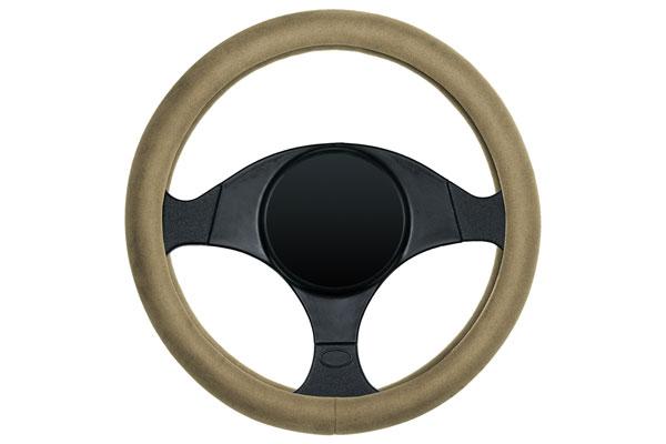 dash designs ultra plush steering wheel cover tan sample