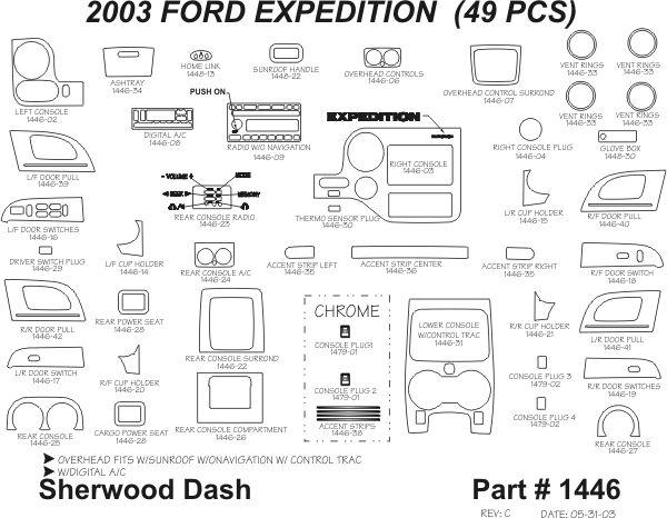 2003 2006 Ford Expedition Wood Dash Kits   Sherwood Innovations 1446 N50   Sherwood Innovations Dash Kits