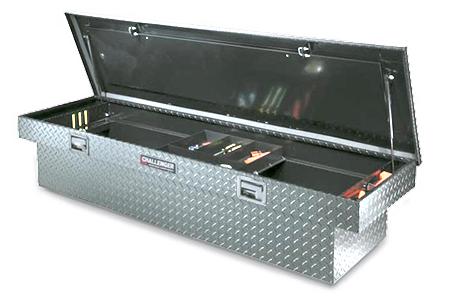 deflecta shield single lid deep truck toolbox polished