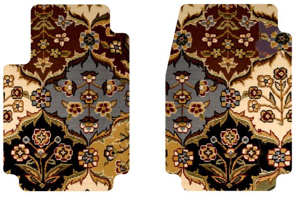2006 Jeep Wrangler Designer Mats Oriental Floor Mats in Multi Color, 2-Piece Front Floor Mats