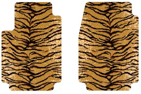 2008 Jeep Wrangler Designer Mats Safari Floor Mats in Tiger, 2-Piece Front Floor Mats