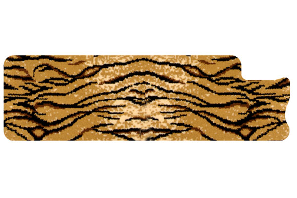 dm safari tiger left rail mat sample