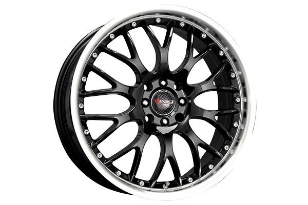 drag dr 19 wheels gloss black fully painted with machined lip