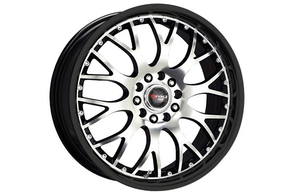 drag dr 19 wheels gloss black with machined face without machined lip