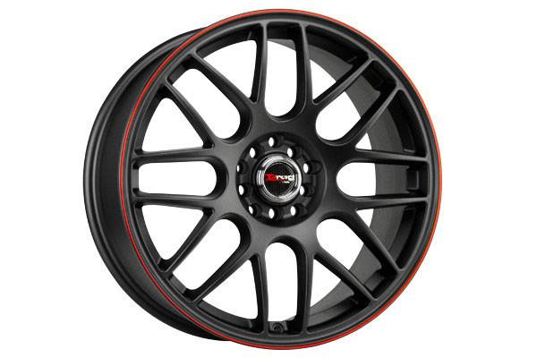 drag dr 34 wheels flat black red stripe
