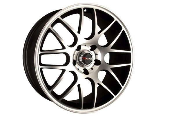 drag dr 37 wheels flat black with machined face
