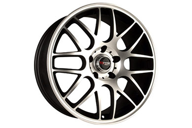 drag dr 34 wheels flat black machined face