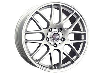 drag dr 37 wheels silver with machined lip