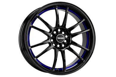 drag dr 38 wheels gloss black blue stripe