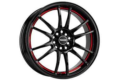 drag dr 38 wheels gloss black red stripe