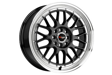 drag dr 44 wheels gloss black small lip