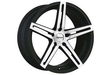 drag dr 60 wheels flat black with machined face