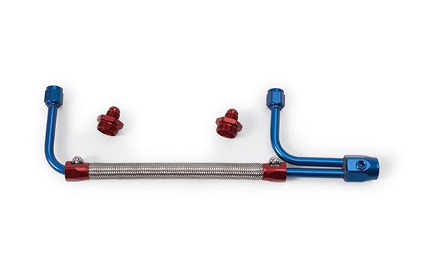 edelbrock dual feed fuel hose kits 8101