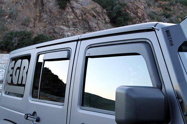 Egr 575155 Egr In Channel Matte Black Window Visors