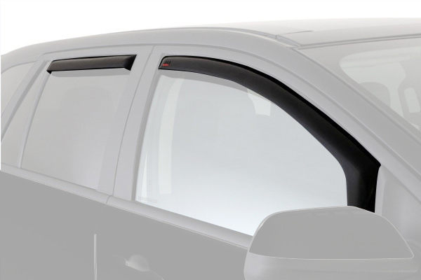 egr window deflectors dark smoke car front rear