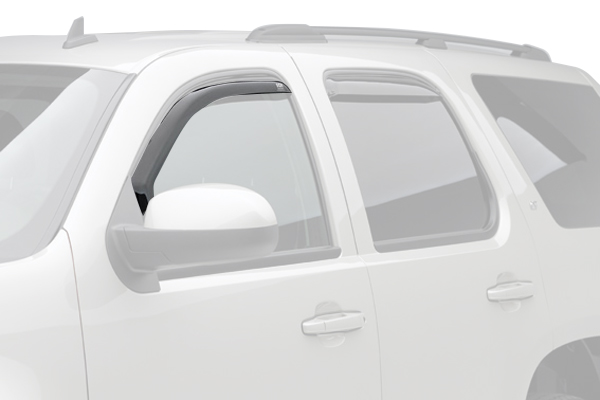 egr window deflectors dark smoke suv front