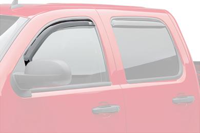 egr window deflectors dark smoke truck front