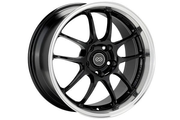 enkei pf01 racing wheels black with machined lip sample