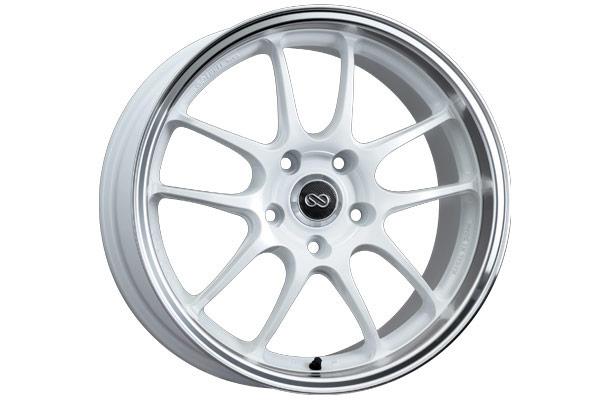 enkei pf01 racing wheels white with machined lip sample
