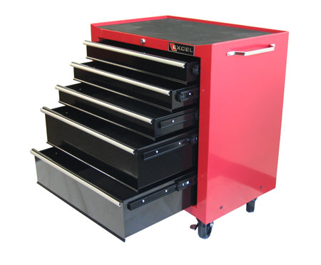 Excel Rolling Tool Chests TB2230BBS-C 5-Drawer Rolling Metal Tool Chest