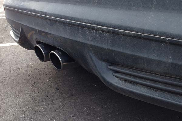 With Dual Exhaust Tips
