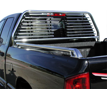 go industries round headache rack split louvers