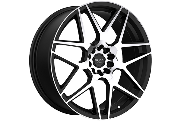 ruff racing r351 wheels flat black with machined face sample