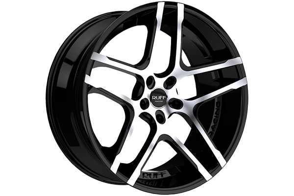 ruff racing r954 wheels black with machined face sample