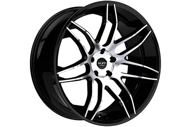 ruff racing r960 wheels black with machined face sample