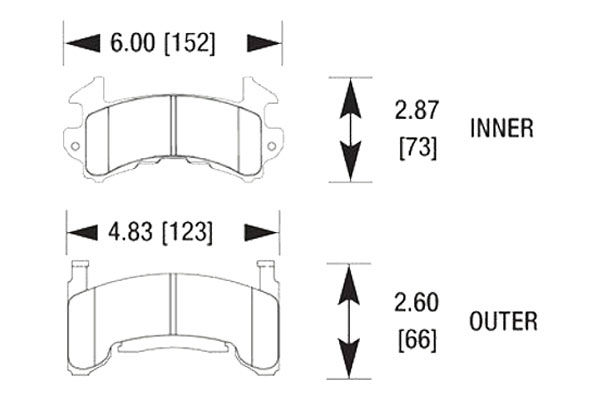 hawk brake pads diagrams HB119
