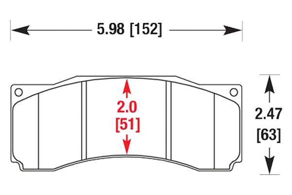 hawk brake pads diagrams HB122