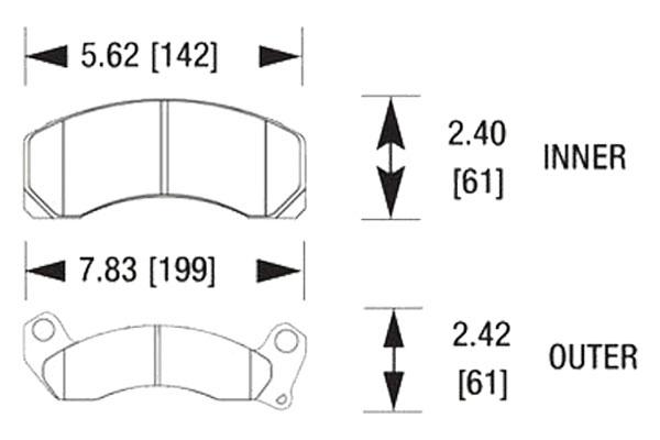 hawk brake pads diagrams HB125