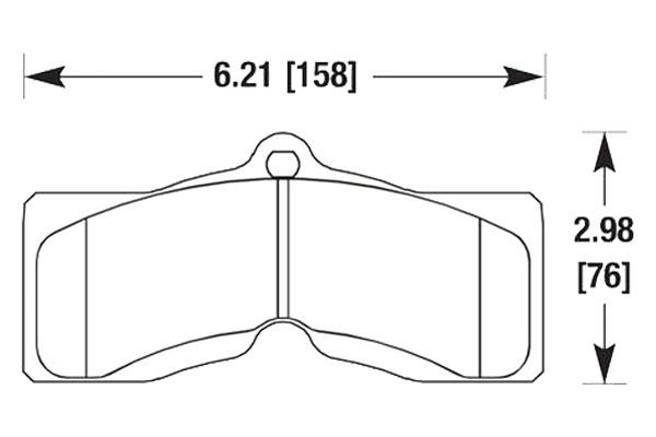 hawk brake pads diagrams HB126